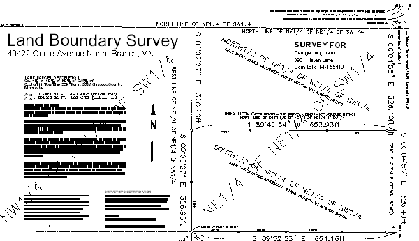 Certificate Of Survey Map Property Lines Current Site Conditions And Features